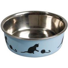 Katteskål Bella Blue Cat Feeder, Blue Cats, Dog Bowls, Flamingo, Pink, Products, Gatos, Rabbits, Hipster Stuff