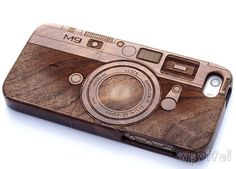 wood iphone 6 case,  iphone 6 wood case,iphone 6 plus case ,Engraved Camera Case / Leica M9, Photography,  Gift by WPYIFEI on Etsy