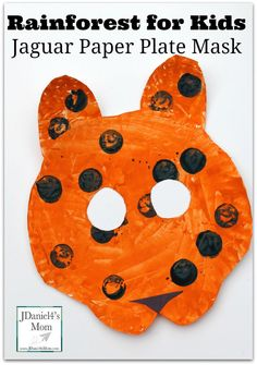 Rainforest for Kids:Jaguar Paper Plate Craft- This part part of a series of crafts that would be great to make as part of a unit on the rainforest or during the Olympics in Brazil as part of study of that country.