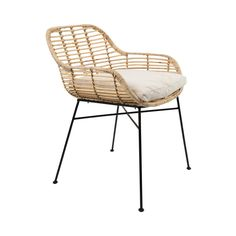 Tiger armchair has a natural rattan shell, and black iron frame with with rubber feet. Eames Chairs, Dining Room Chairs, Ikea Chairs, Bag Chairs, Upholstered Chairs, Cosy Sofa, Outdoor Chairs, Outdoor Furniture, Balcony Furniture