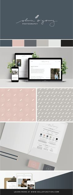 Brand styling and web design for Toronto-based Photographer, Olivia O'Young. Design by Function Creative Co. Click on the image to see more from the project!