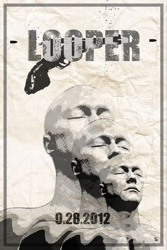 loopermovie: Beautiful fan-made poster c/o looperstuff: Rian Johnson, Cover Design, Mount Rushmore, Movie Tv, Concept Art, Film Poster, Movie Posters, Magazine Covers, Fictional Characters