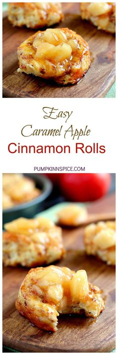 Easy Caramel Apple Cinnamon Rolls - Pumpkin \'N Spice