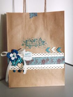 scrapbooking idea for decoration bag ♥