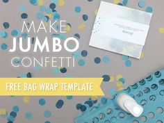 Learn to make jumbo tissue confetti for fun wedding photos. Grab the free printable bag label and package the confetti for guests to shower you in giant dots! Free Printable Wedding Invitations, Wedding Invitation Video, Wedding Labels, Printable Labels, Diy Invitations, Printable Designs, Invites, Printables, Wedding Wraps