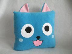 Happy Fairy Tail Fleece Pillow Handmade