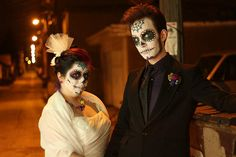 Monica & Anthony's Mexican-American sugar skull soiree | Offbeat Bride