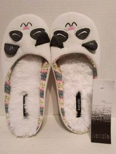 f8f46eaf539d NEW KENSIE WOMEN (SIZE L 9-10) WHITE SLIPPERS WITH ANIMAL FACE NEW WITH TAG   fashion  clothing  shoes  accessories  womensshoes  slippers (ebay link)