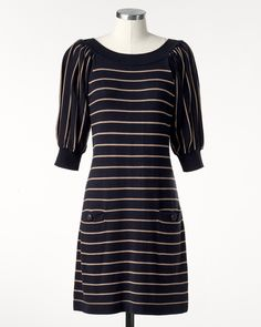 Fall for stripes dress in medium navy.  Use code AFLF768 for an additional 40% off the already marked down price of 50% off.