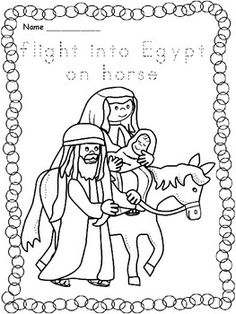 flight into egypt coloring pages - photo#17
