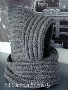 by hf My first Crochet Hodded Cowl is almost ready...just a few silver studs.... Do you like it? ❥ 4U //