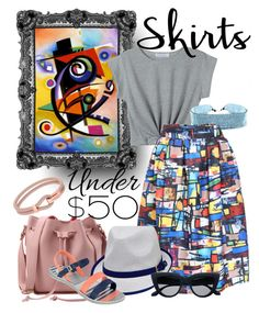 """""""Under 50$"""" by ilona-duszak ❤ liked on Polyvore featuring Child Of Wild, Zaxy, Michael Kors, under50 and skirtunder50"""