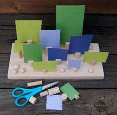 just an idea om in spelvorm te oefenen met begrippen als voor, achter, links, rechts, boven, etc