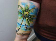 Beach Scene Tattoo