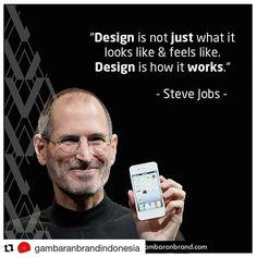 #Repost @gambaranbrandindonesia (@get_repost)  Dalam proses design Designer dan brand owners harus memiliki sebuah gambaran akan fungsi design dari produk yang dimilikinya. Tanpa Design konsumen akan mengalami kesulitan dalam mengenali brand ataupun produk yang ditawarkan. Tetapi Design tidak boleh hanya sebagai pelengkap dari brand.  Steve Jobs (24 Febuari 1955  5 Oktober 2011) CEO dari Apple Inc. (1976 - 1985 1996 - 2011) percaya bahwa Design perlu memiliki fungsi yang dapat menunjang…