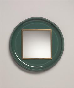 Ettore Sottsass Jr.; Painted Aluminum, Brass and Glass Mirror for Santambrogio & De Berti, c1954.