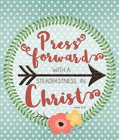 "LDS Youth Theme 2016 {Free Printable} ""Press Forward"""