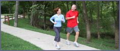 Couple Running for Target Heart Rate