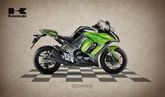 Kawasaki Z1000sx Print By Mark Rogan