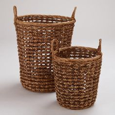 One of my favorite discoveries at WorldMarket.com: Brianna Braided Tote Baskets