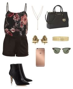 """""""Untitled #1178"""" by jamierountree1 ❤ liked on Polyvore featuring Belleza, Vince Camuto, Trifari, Michael Kors, Liz Claiborne, Ray-Ban y Mura"""