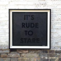 Black on Black #Mobstr 'How Rude' #diamonddust #it'srudetostare  http://www.nellyduff.com/artists/mobstr