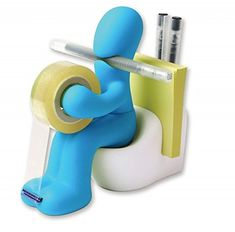'The Butt' Office Supply Station Tape Dispenser Desk Accessory Holder with Roll of Tape and Paper Clips included (Blue) Butt Supplies http://www.amazon.co.uk/dp/B012ATV2M8/ref=cm_sw_r_pi_dp_KLuRwb15W11DK