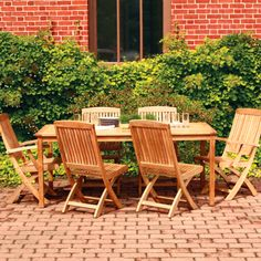 Have to have it. Three Birds Braxton Teak Dining Set - Seats 6 $3499.99