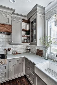 If you are looking for Farmhouse Kitchen Design Ideas, You come to the right place. Below are the Farmhouse Kitchen Design Ideas. Diy Kitchen Cabinets, Kitchen Cabinet Design, Kitchen Redo, Home Decor Kitchen, Rustic Kitchen, New Kitchen, Home Kitchens, Kitchen Designs, Small Kitchens