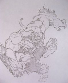 Mike Bowden Sabretooth pencil drawing by ~DesJnr on deviantART