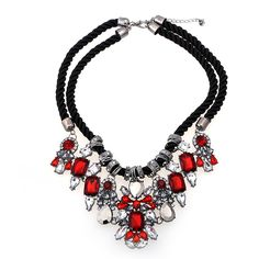 Hotsale big necklaces long jewelries European fashion hyperbole exaggerated collar necklace crystal gem necklace pendant-in Choker Necklaces from Jewelry on Aliexpress.com | Alibaba Group