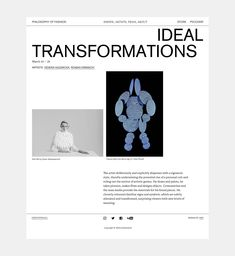Philosophy of Fashion on Behance Banner Design Inspiration, Website Design Inspiration, Graphic Design Layouts, Web Layout, Minimal Website Design, Beautiful Website Design, Modern Web Design, Presentation Layout, Art Graphique