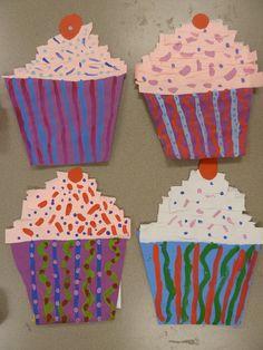 What Your Kids Feel About Divorce Cupcake Painting, Cupcake Art, Kindergarten Art Lessons, Art Lessons Elementary, Kindergarten Games, Wayne Thiebaud, Painting For Kids, Art For Kids, Kid Art