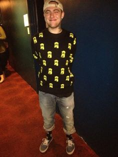 Mac Miller , the outfit, his smile, just perfect