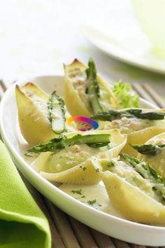 Conchiglioni con asparagi e ricotta | Cucinare Meglio