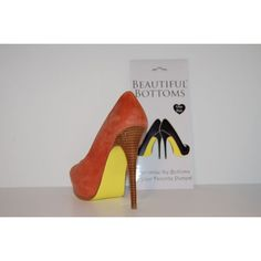 Beautiful Bottoms (High High Accessory). Can you scream how clever?   Creatively change the color of the bottom of your favorite pair of high heels. Available in Teal, Yellow, Red, Sky Blue, Neon Orange & Neon Pink. http://www.plushboutique.net/