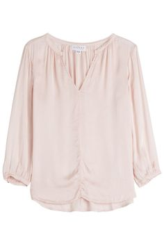 Velvet V-neck Blouse With Cotton In Pink Velvet Tops, Cotton Velvet, Pink Velvet, Flare Top, Velvet Fashion, Stella Mccartney Adidas, V Neck Blouse, Pop Fashion, Pink Tops