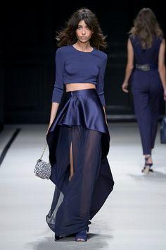 Elisabetta Franchi - Spring Summer 2016 Ready-To-Wear - Shows - Vogue. Fashion Moda, Fashion Week, Blue Fashion, Runway Fashion, Spring Fashion, High Fashion, Fashion Show, Womens Fashion, Fashion Design