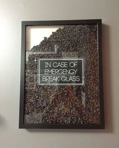 Funny idea for coffee drinkers. Fill picture frame with coffee beans. - Funny idea for coffee drinkers. Fill picture frame with coffee beans.