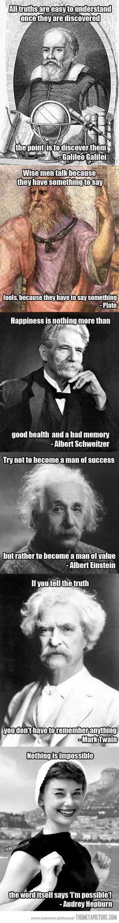 Good quotes by great minds…