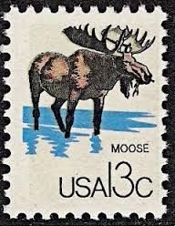postzegel met eland