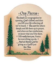 Pastor Preacher Thank You Plaque Sign Wall Art Birthday Christmas Gift Present