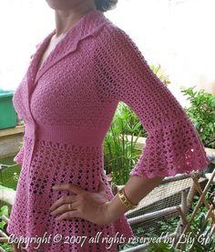 Dahlia Top Crochet Pattern in PDF File