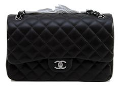 Chanel 12A DARK GREY Lambskin Leather JUMBO Double Flap Classic Bag Silver RARE! Shop it now on: http://ebay.to/1QKuTSy Shop: www.evesher.com #ShoulderBag#Chanel #Bag #purse #leather#fashion #handbag #accessories#gucci #prada#french #EveSher#fashionista #ootd #lambskin#highfashion #designer #unique#shop#deals
