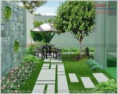 các mẫu thiết kế sân vườn tiểu cảnh đẹp