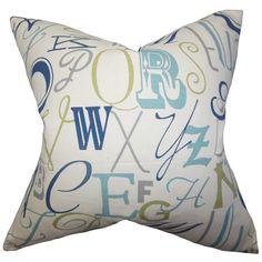 Scyler Typography Cotton Throw Pillow
