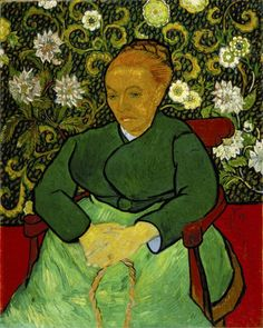 Painting by Vincent van Gogh (1853-1890), ca. 1889, La Berceuse (portrait of Madame Roulin), Oil on canvas.