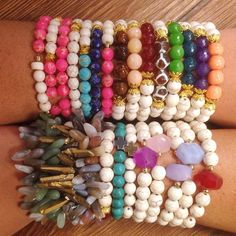 All these bracelets and more!  LOVE to stack these with my other bracelets!  #shopwalkerboutique #DesignsbyDevra