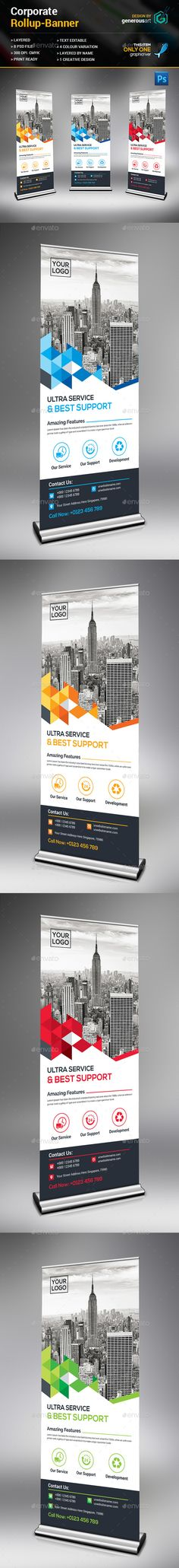 Corporate Rollup Banner Template PSD. Download here: http://graphicriver.net/item/corporate-rollup-banner/15399823?ref=ksioks