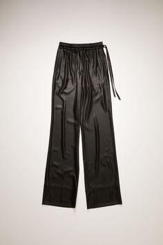 Satin trousers Satin Trousers, Studio S, Black Satin, Acne Studios, Sweatpants, Legs, Shopping, Motivation, Fashion